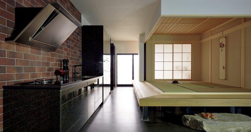 和、洋どちらのインテリア空間にも調和する京友禅の扉