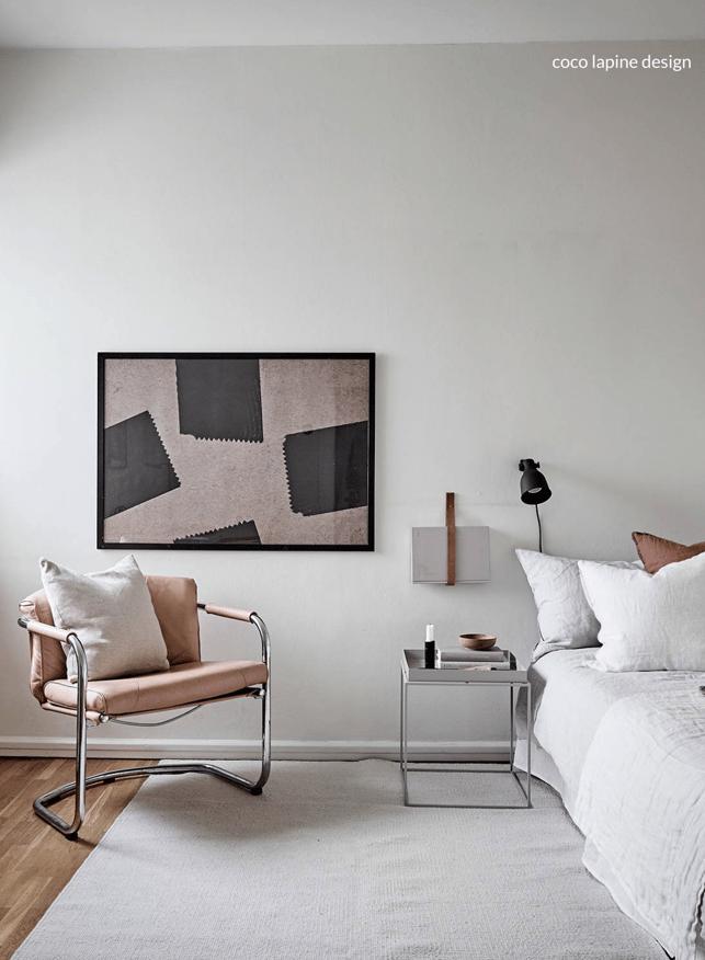 scandinavian minimal bedroom design