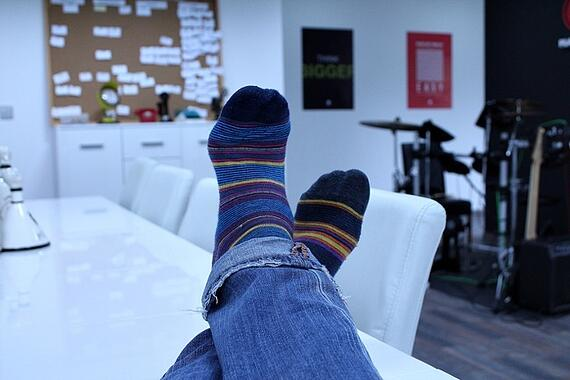 Relaxing at Work.
