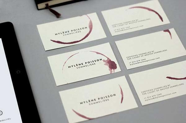 Wine shop business card