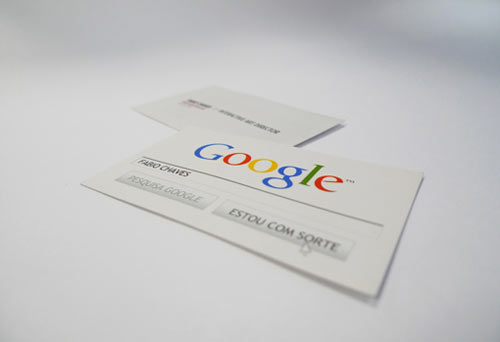 """Google me"" business card"