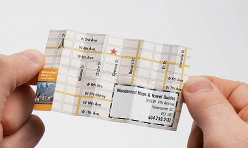Map card business card