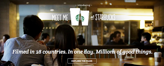 """Meet me at Starbucks"" - Global Campaign"