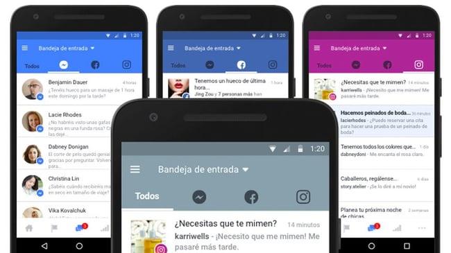 Facebook unifica la bandeja de entrada con Instagram