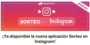 Sorteo en Instagram con easypromos