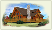log home plans 1000 -1999 sq. ft.