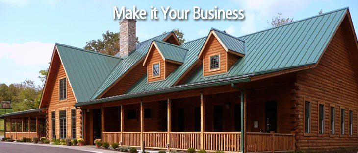 log home logs offers unique commercial applications too build home office header