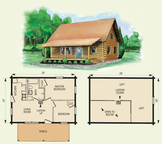 cabin floor plan with loft