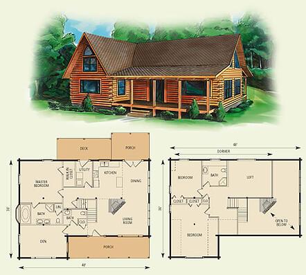 Log Cabin Home Floor Plan Dogwood Ii