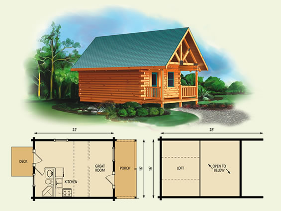 Fairlea for Alaska log home plans