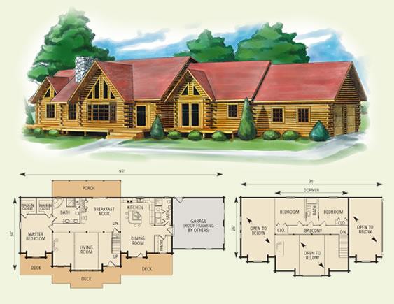 4 bedroom log homes 2