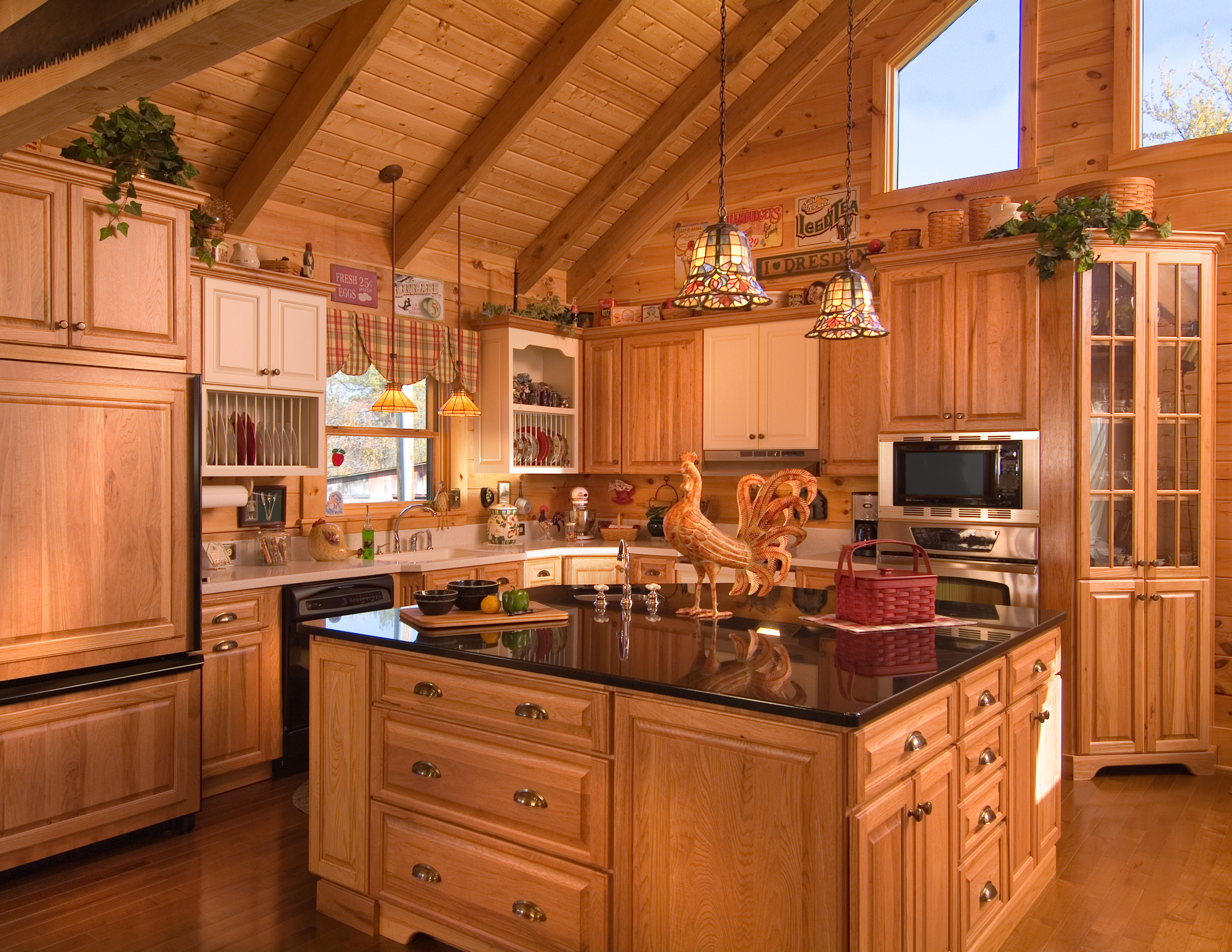 Beautiful Log Cabin Kitchen Images Amazing Design Ideas Siteous   Log Home  Interiors