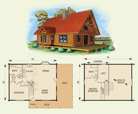Morgan for Log cabin floor plans with 2 bedrooms and loft