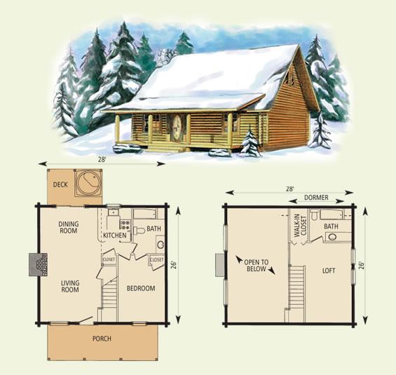 16 X 24 Log Cabin Plans