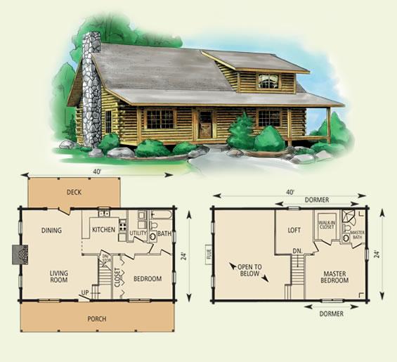 Wildwood for 10 x 20 cabin floor plans