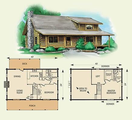 Wildwood for 8 bedroom log cabin floor plans