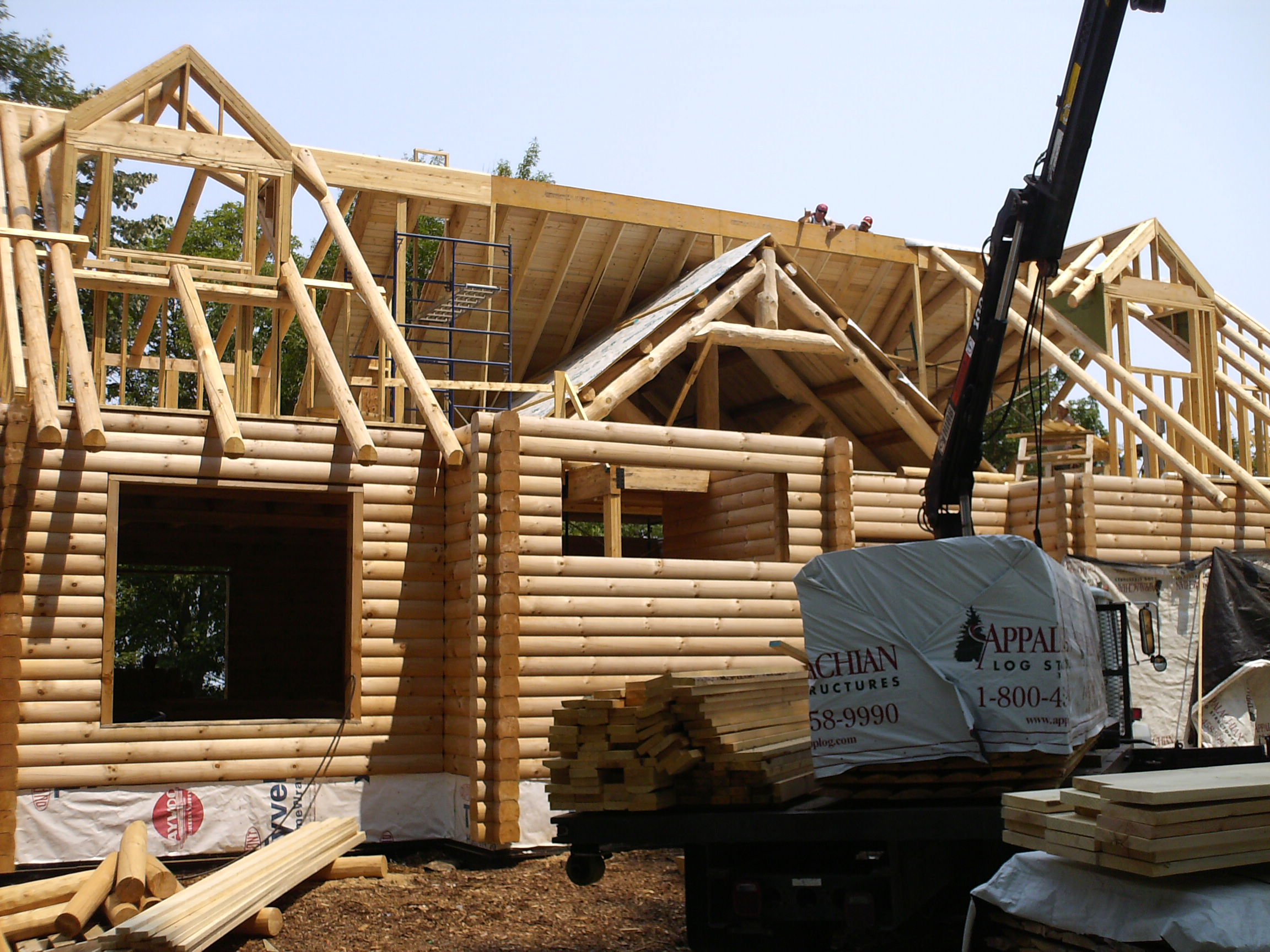 Log home construction costs step 7 in planning for success for Log construction