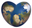 heart shaped world graphic