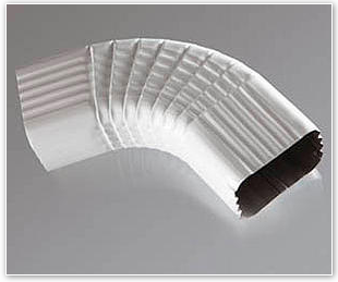 aluminum building sheet gutters and downspouts