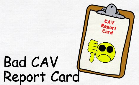 Bad GSA CAV report Card