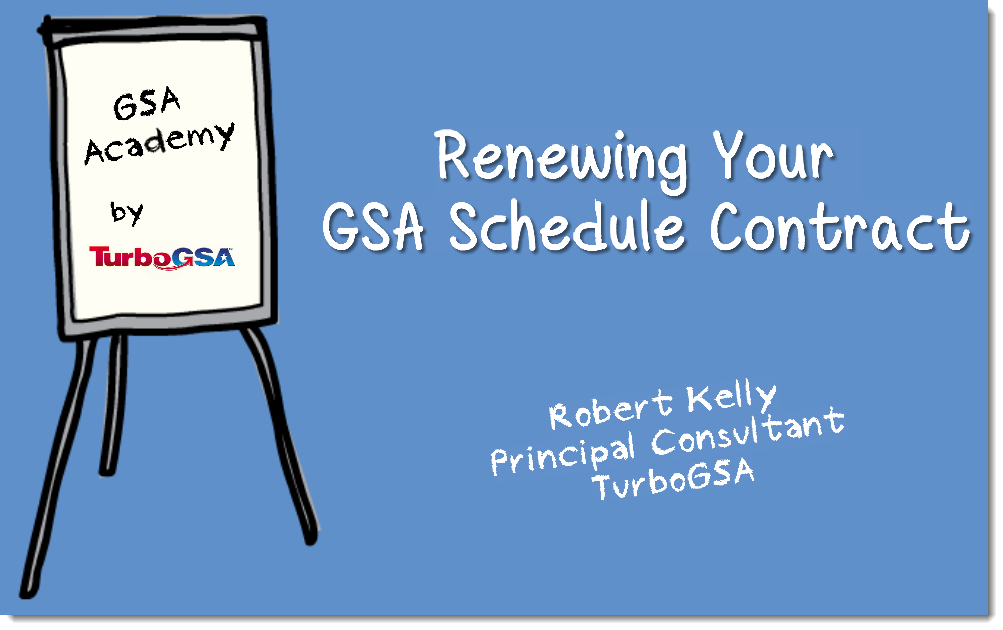 Renewing a GSA Contract