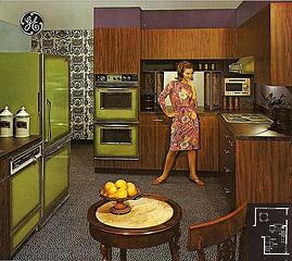 Kitchens with Color, but Not Avocado Green