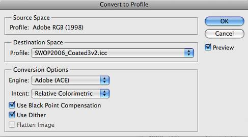 Assigning, tagging, converting, and embedding ICC profiles in Photoshop