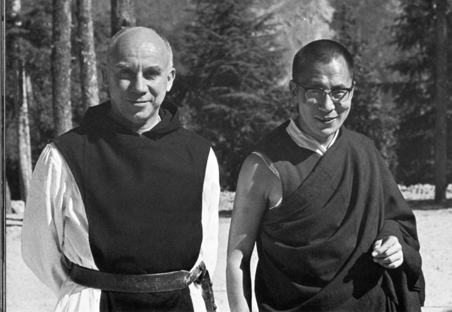 Trappist Father Thomas Merton is pictured with Dalai Lama in 1968. | CNS photo/Thomas Merton Center at Bellarmine University