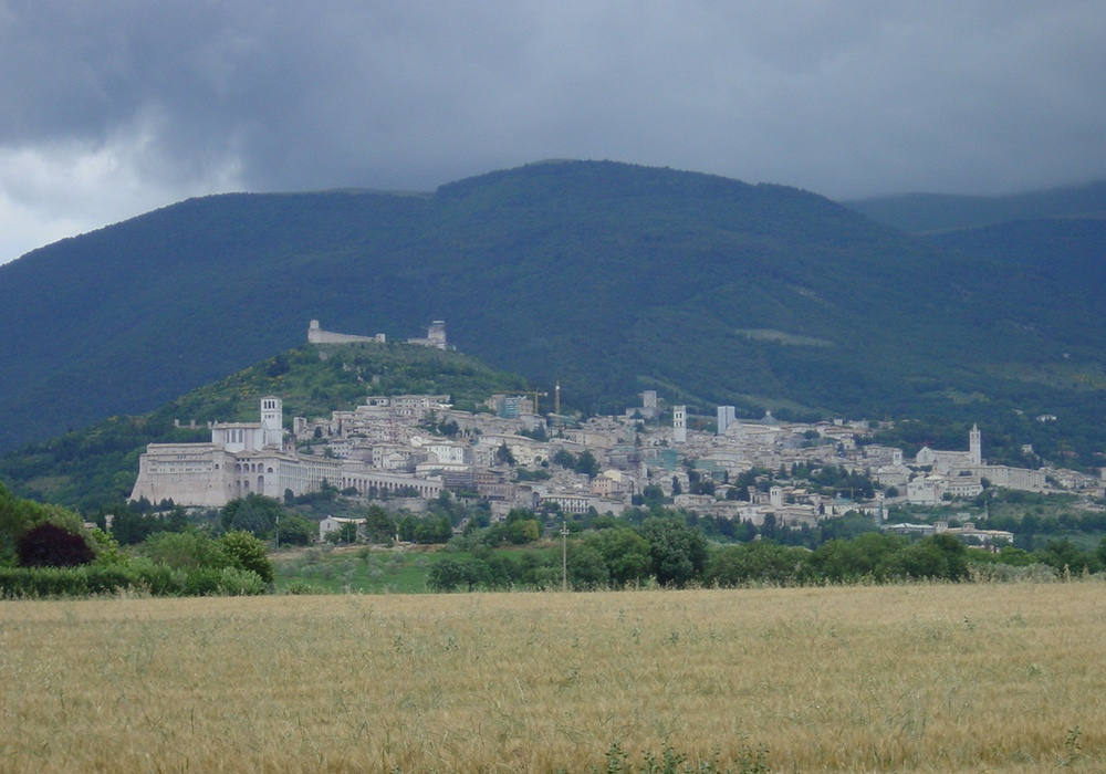 Assisi under clouds