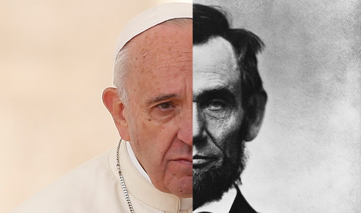 Pope Francis and Abraham Lincoln
