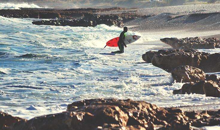 Heroism of surfers