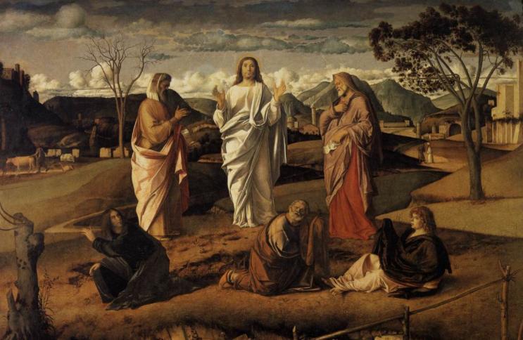 Transfiguration, Crucifixion, and Resurrection   Image: Wikimedia Commons