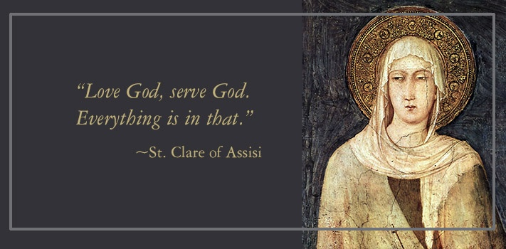 Saint Clare: Pray for us!