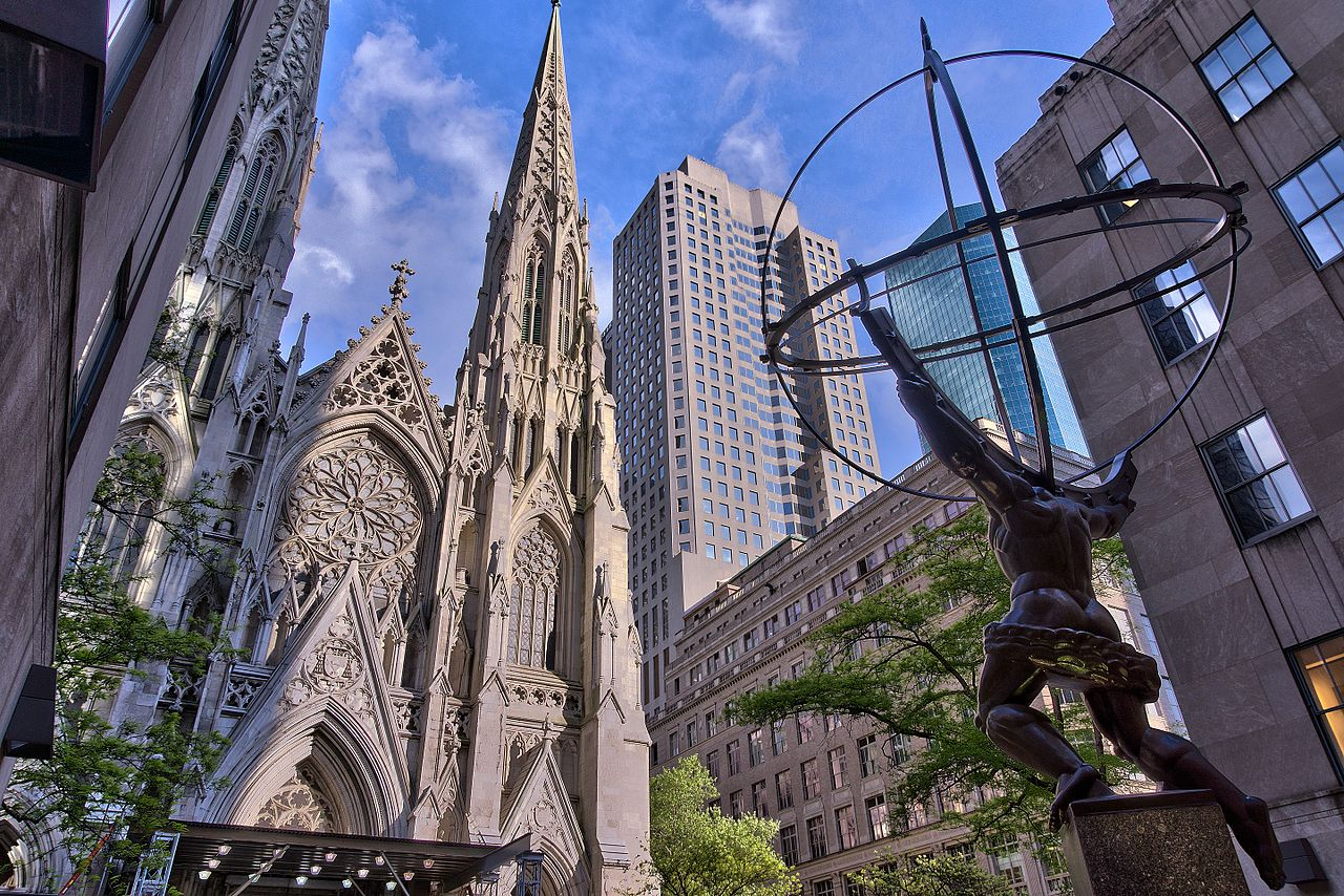NYC's St Patrick Cathedral, image via Wikipedia