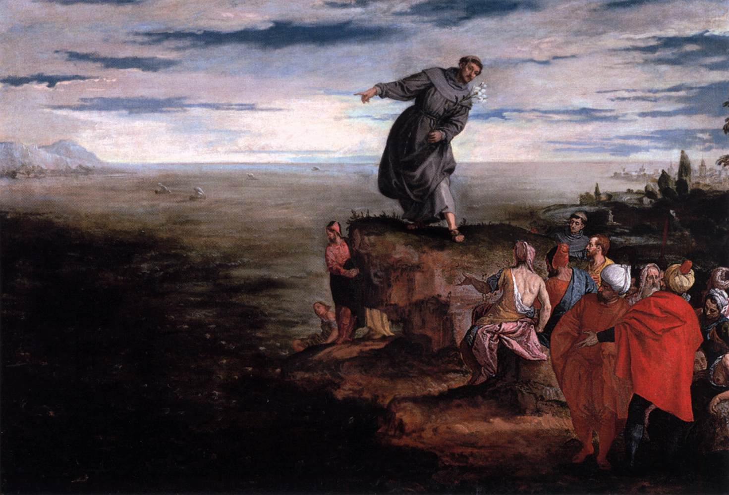 Saint Anthony preaches to the masses.