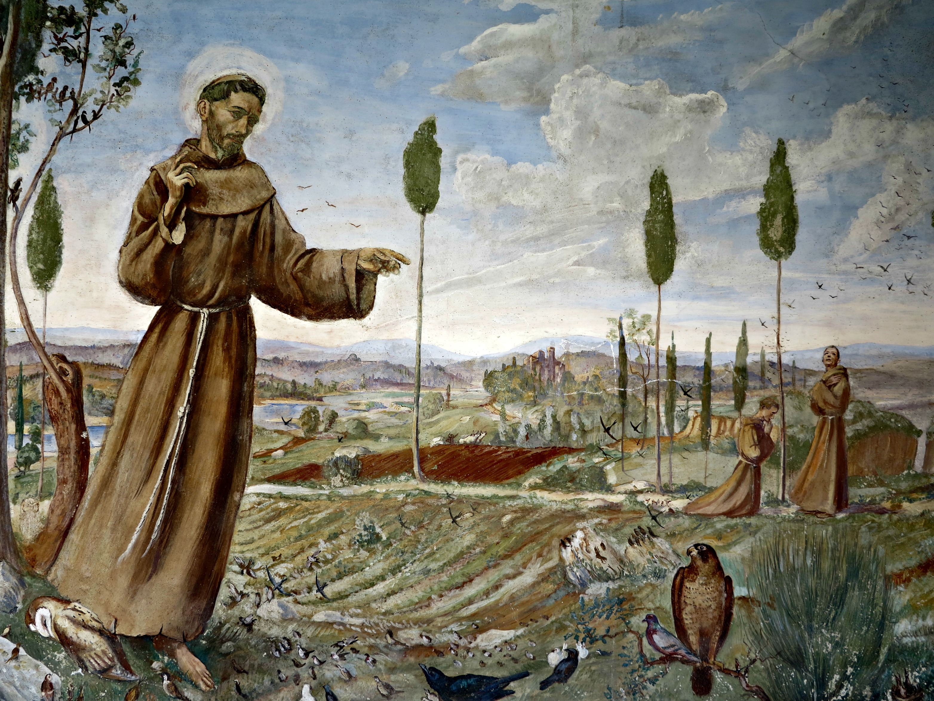 Saint Francis preaches to the birds. | Wikimedia Commons