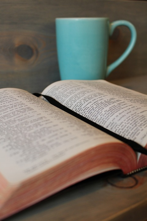 Hope is written between the lines of the Bible. Photo: Pixabay