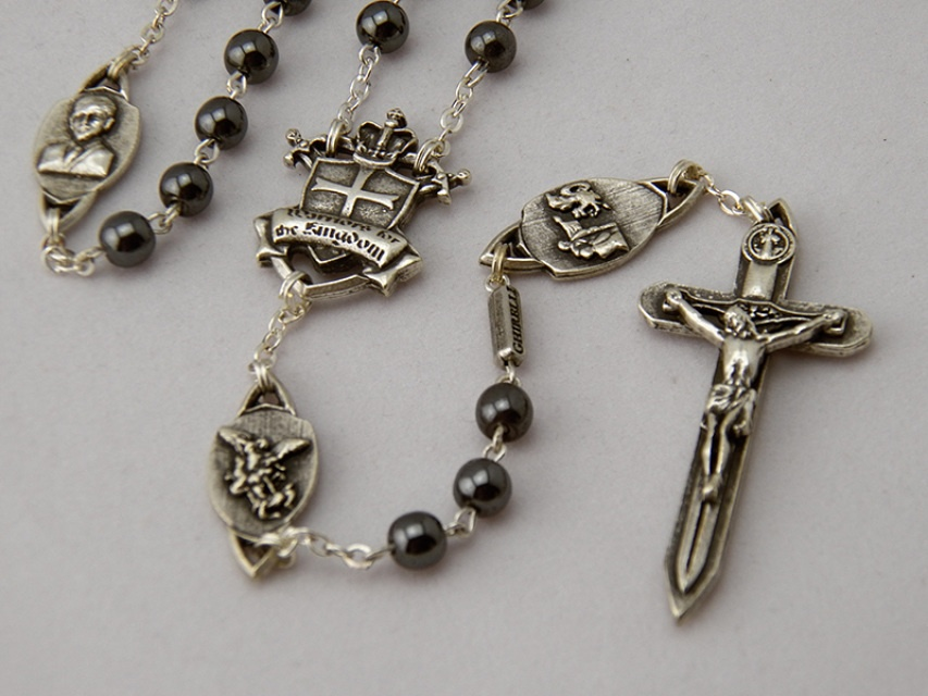 Silver rosary for prayer warriors