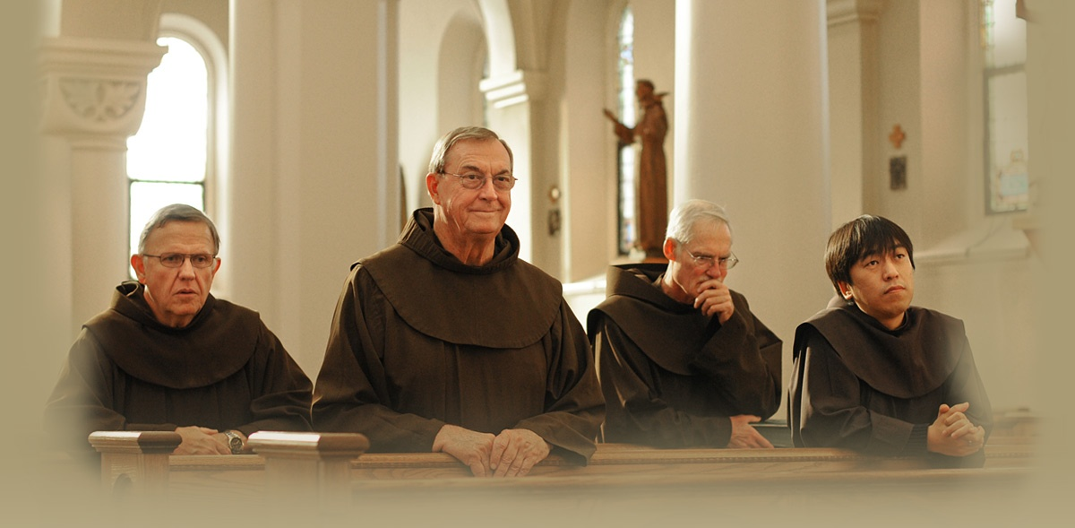 Father Frank Jasper, OFM, second from right, authored this blog.
