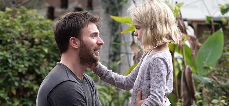 Mckenna Grace shines in her role as the brilliant but sheltered niece of Chris Evans' character in Gifted.   WILSON WEBB/TWENTIETH CENTURY FOX