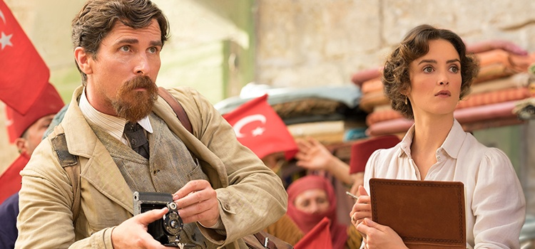 Loyalties are tested in The Promise, a war drama starring Oscar winner Christian Bale and newcomer Charlotte Le Bon.   JOSE HARO/OPEN ROAD FILMS