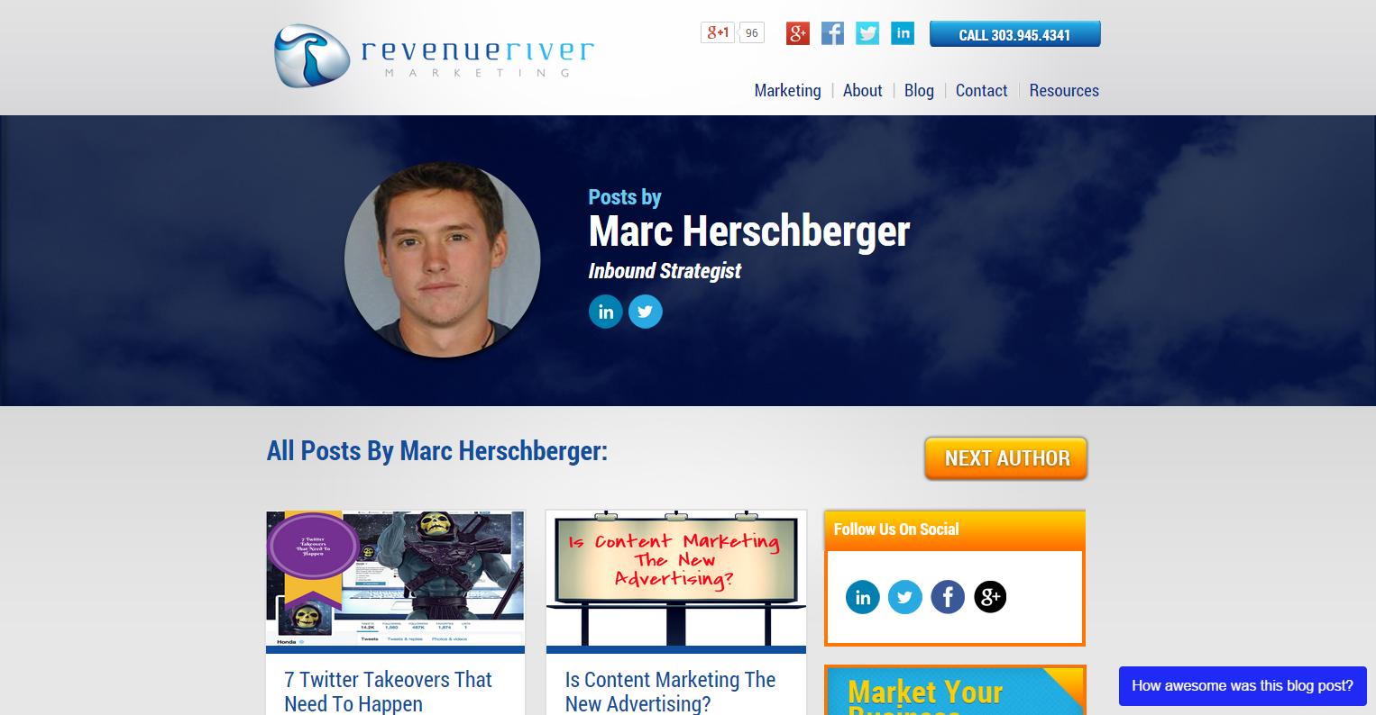 Revenue River Blog Author Page