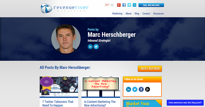 Revenue River Blog Author Page