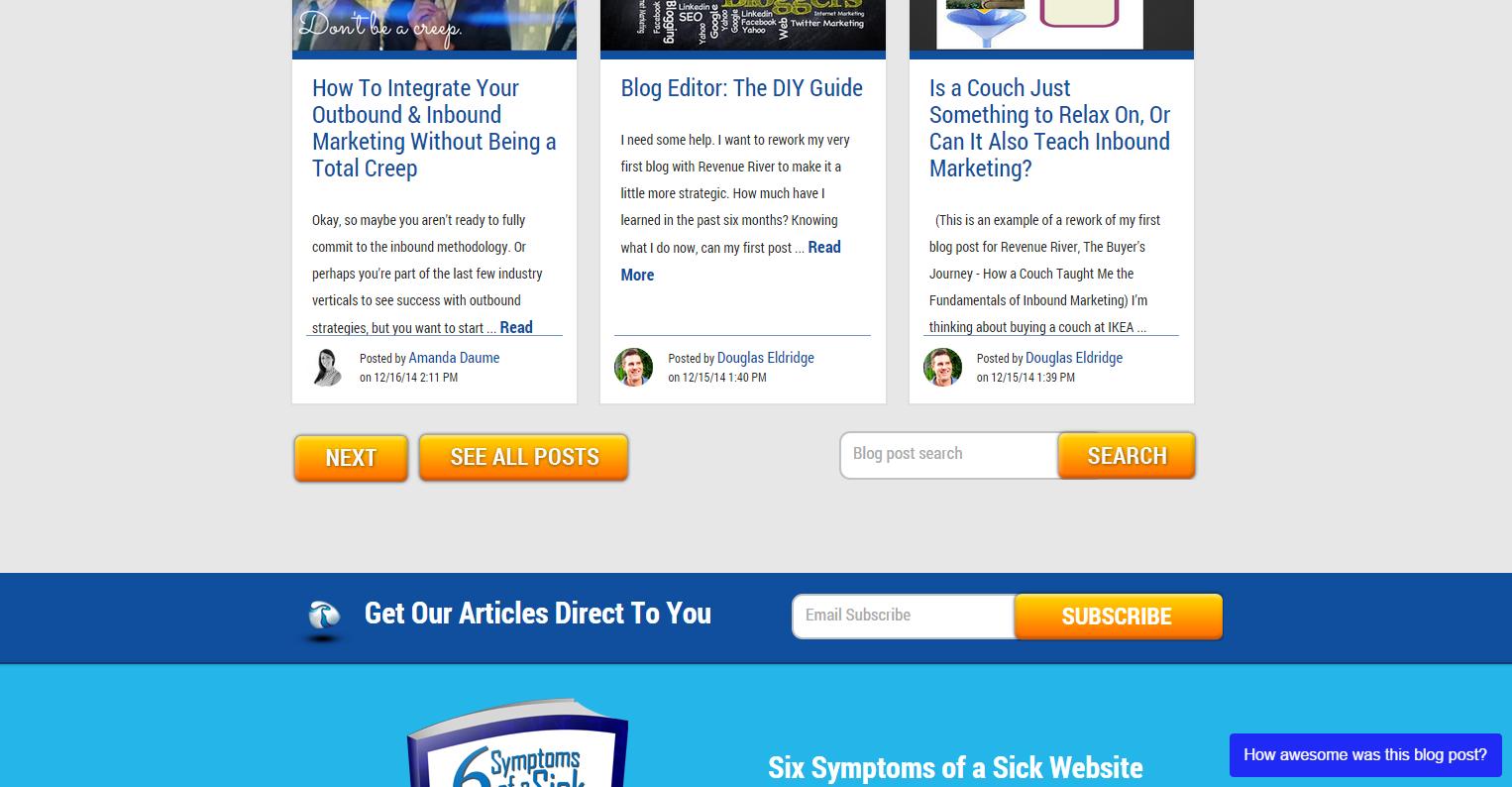 Revenue River Blog Subscription
