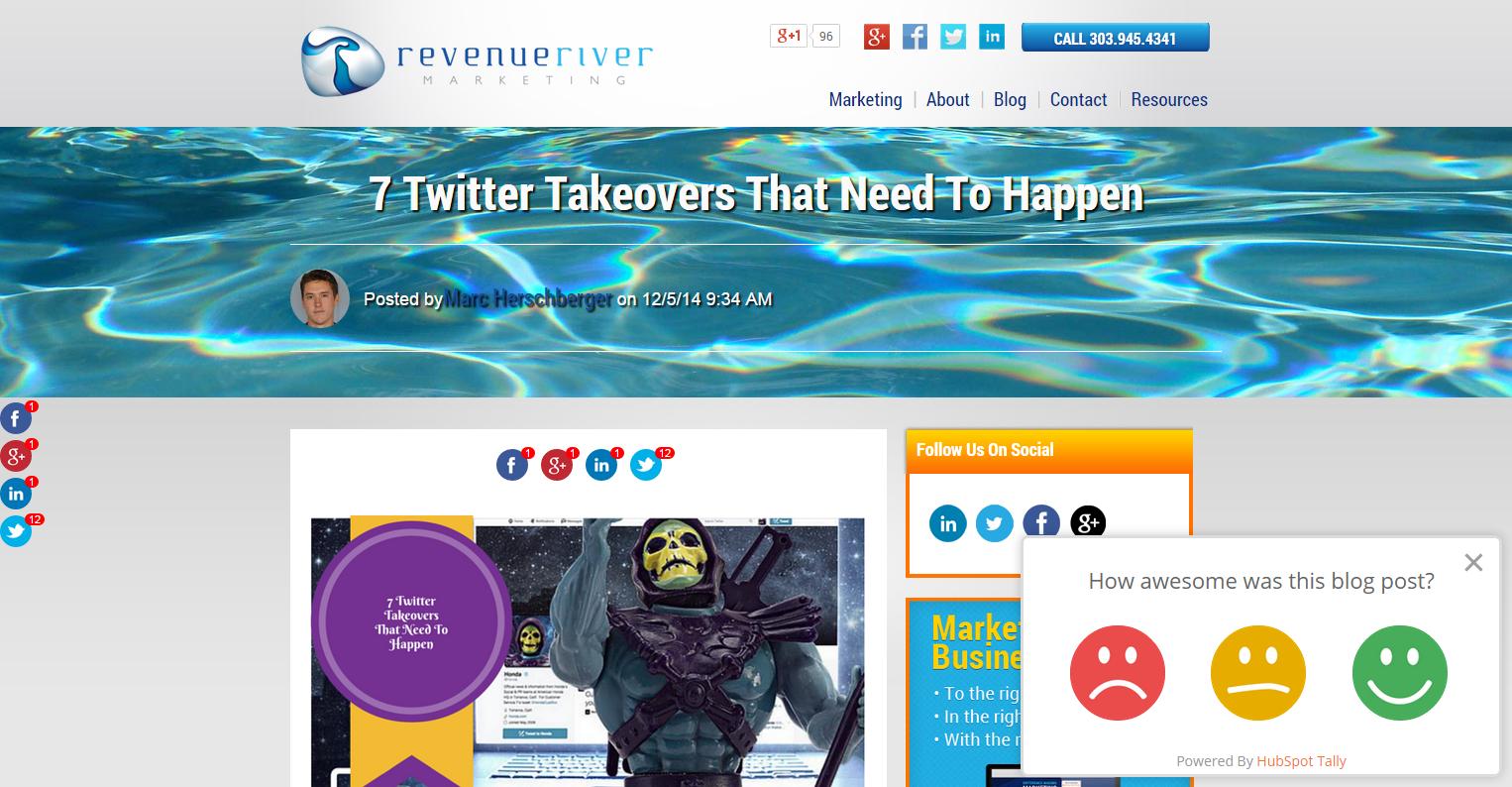 Revenue River Blog Tally