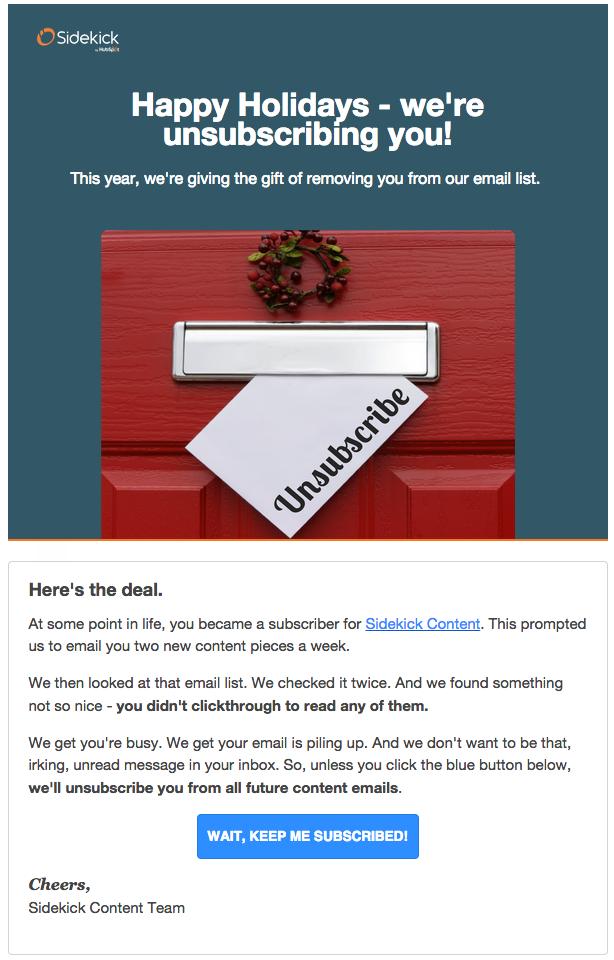 email de descadastro