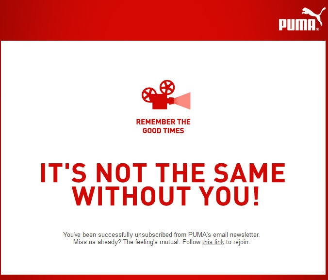 PUMA Unsubscribe Page