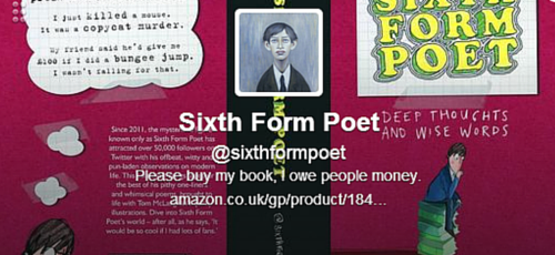 Sixth Form Poet Twitter bio
