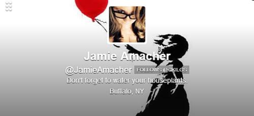 Jamie Amacher Twitter Bio