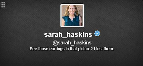 Sarah Haskins Twitter Bio